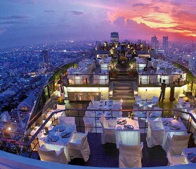 走进世界四大屋顶餐厅 体验别样氛围