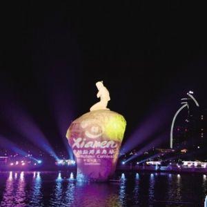 厦门筼筜湖花船巡游 体验闽南博饼文化