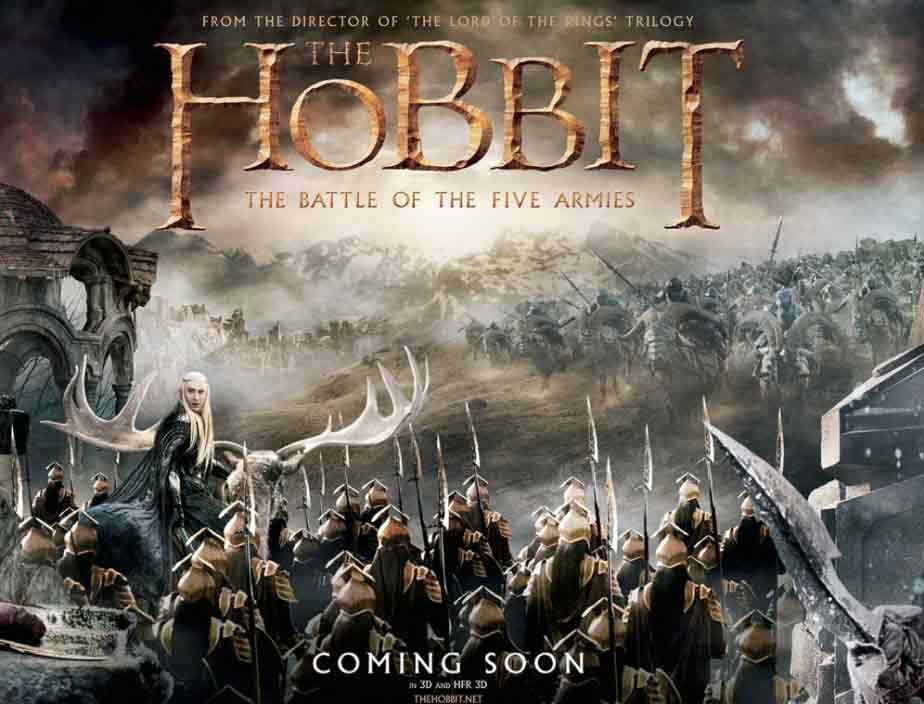 《霍比特人3》发布全景海报