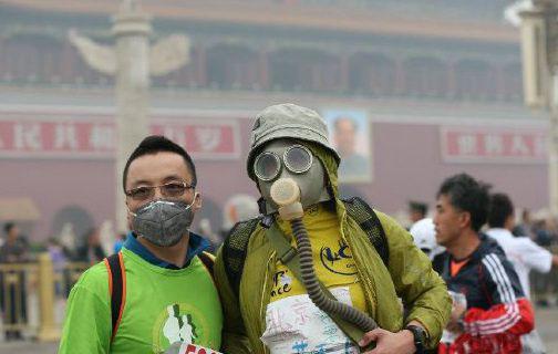 雾霾下的马拉松