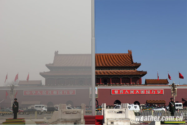 一组对比实拍:告诉你北京雾霾多厉害