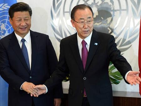 习近平在联合国峰会签字一幕