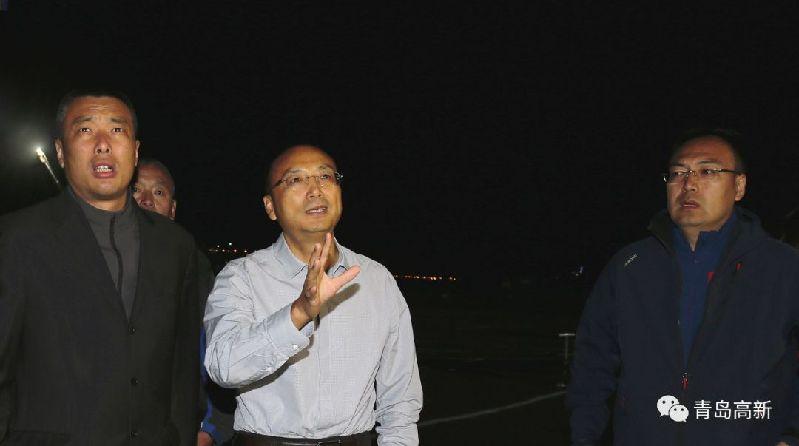 王作安调研省运会主会场周边亮化工作