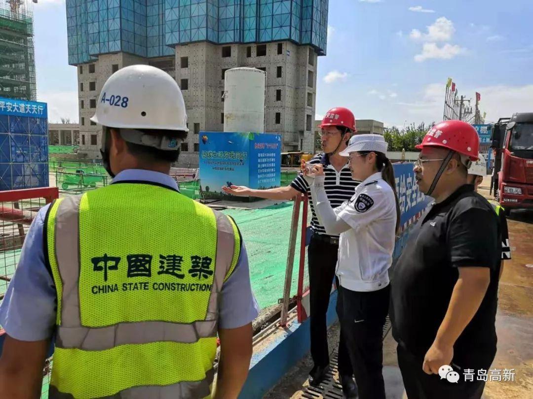 建設局與生態環境分局開展建設工程揚塵治理聯合檢查