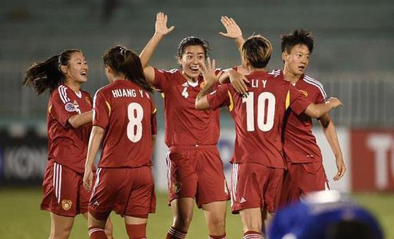 女足亚洲杯:中国7-0泰国为男足雪耻