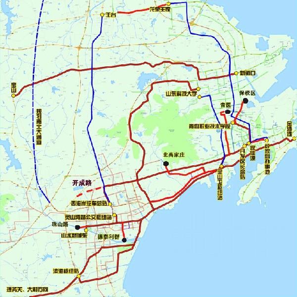 西海岸新区公交一体化 建