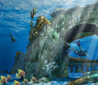 高清:迪拜计划建世界最大水下主题公园 类似迷失古城
