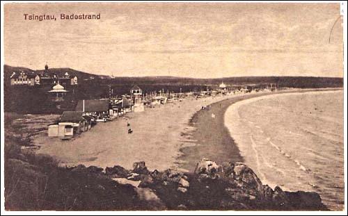 青岛海水浴场老照片