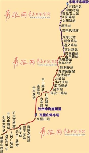 黄岛新区轨道交通将现两纵两横格局(图)
