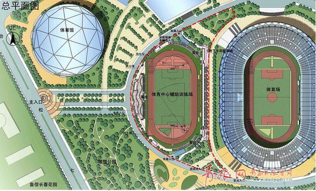 青岛体育中心将建辅助训练场,未来可举办作为国际性田径足球赛事的伊宁市摩托车图片