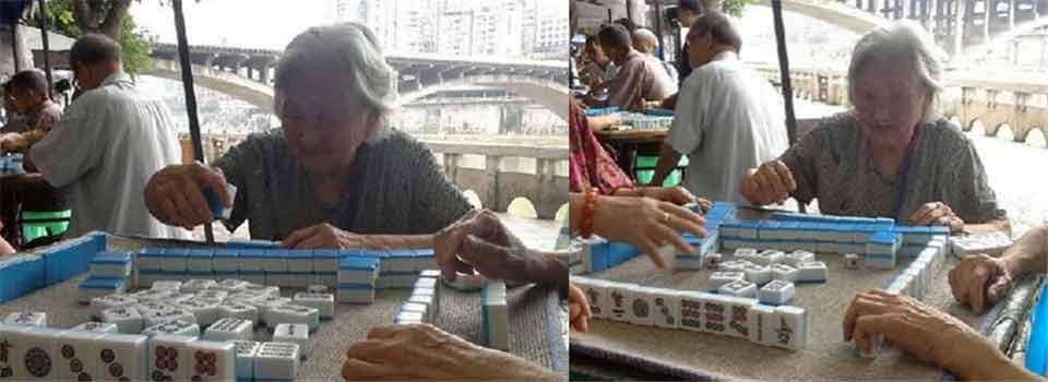 四川96岁麻将婆婆爆红网络 喜吃肥肉爱喝酒