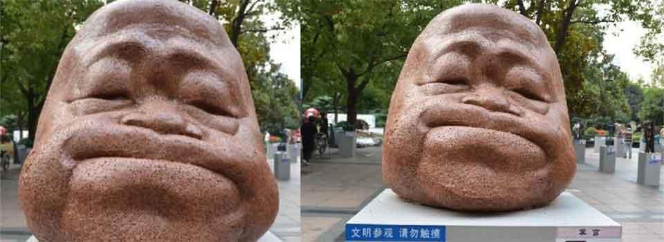 """莫言头像亮相上海雕塑展 憨态可掬被赞""""萌萌哒"""""""
