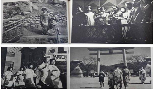 1940年老照片写真:生活在青岛的日本女人