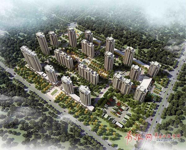 青岛体育中心旁建18栋高层住宅 面积超24万平米
