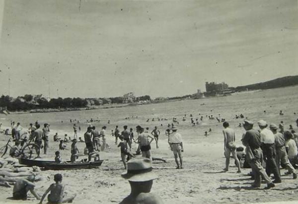 第一海水浴场老照片:德人修建 东亚第一