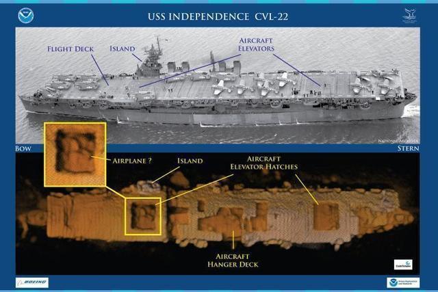 二战时期美国航母在太平洋底沉睡64年被发现