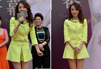 台湾第一美女萧蔷着短裙现身青岛