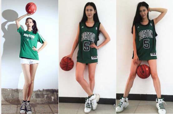 单手抓篮球的妹子!她是模特里打球最好的(图)
