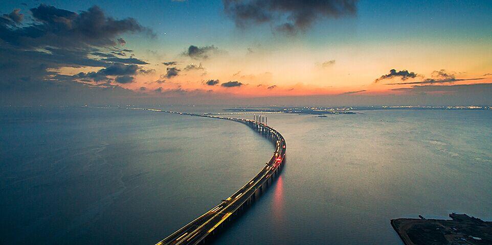 航拍世界最长跨海大桥——胶州湾跨海大桥