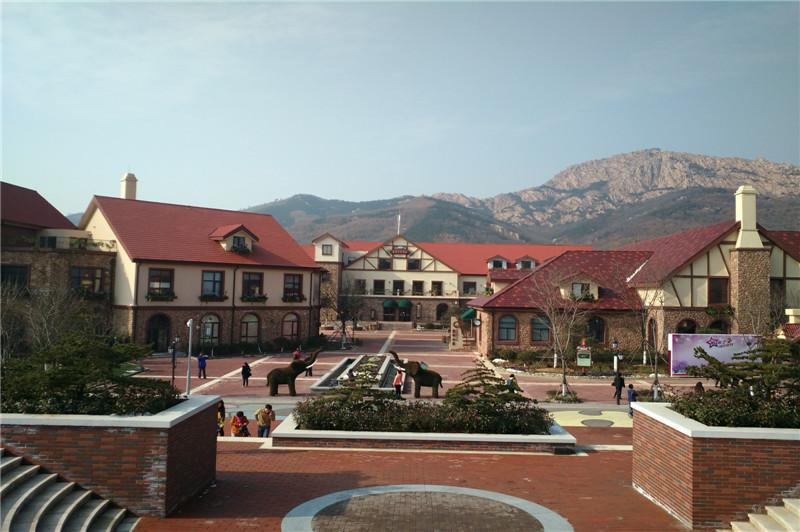 视线越过美丽的蓝莓小镇,遥望着藏马山。