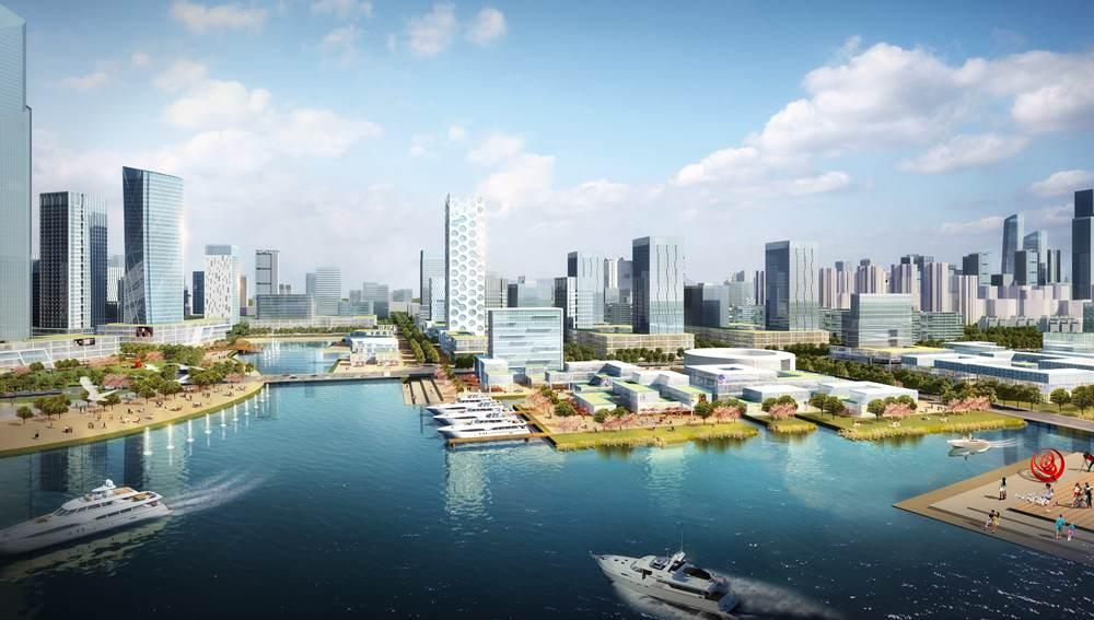 西海岸新区发展美景