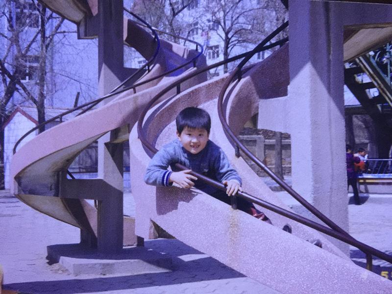 儿子与大滑梯