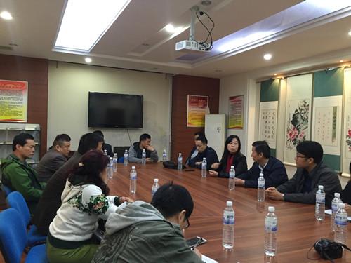济宁市任城区委组织部到金门路街道天山社区考察学习