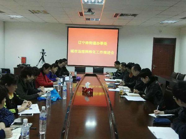 辽宁路街道办事处召开城市治理网格化工作专项调度会