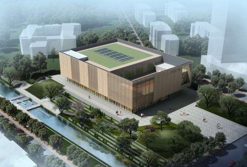 李沧区东部社区活动中心开工建设