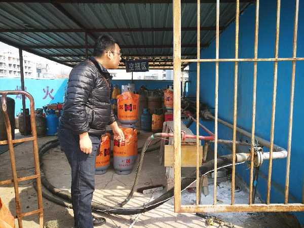 区建管局大力开展液化气充装站安全检查