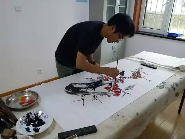 沔阳路社区举行居民书画笔会