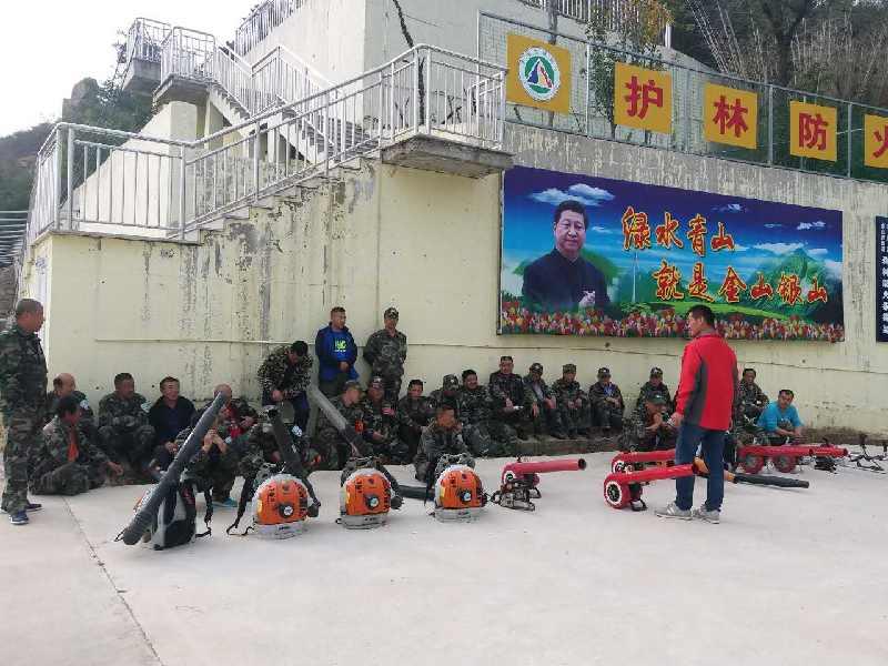 区森防办组织护林防火人员开展灭火设备培训
