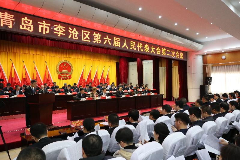 区六届人大二次会议举行第二次全体会议