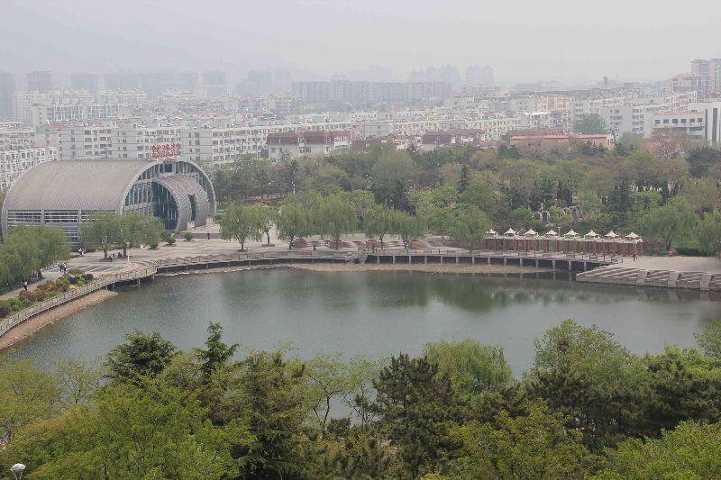 除李沧区文化公园改造工程外,还包含大村河,板桥坊河及楼山河三大汇水