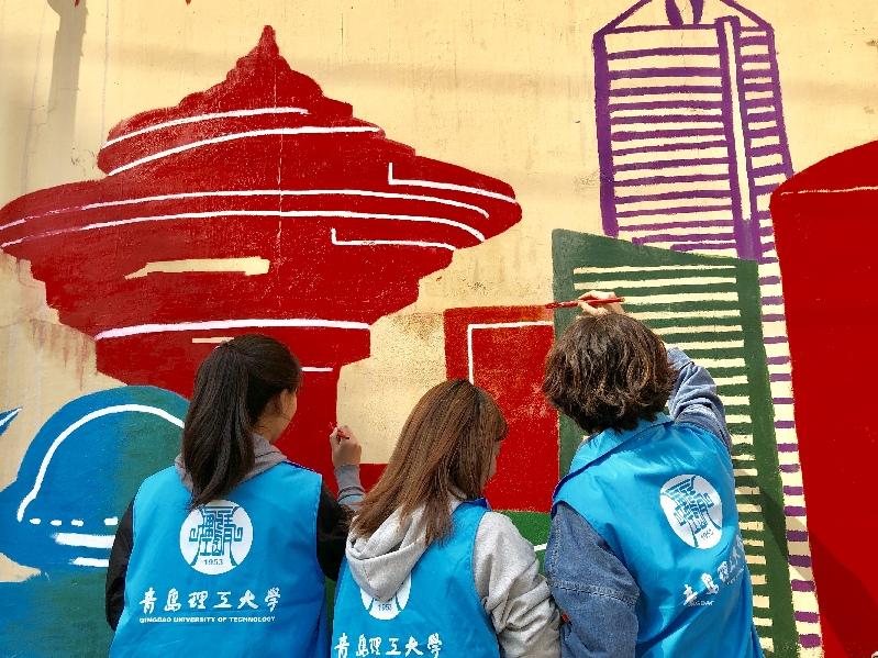 阜新路街道携手青岛理工大学开展青年志愿者共建活动