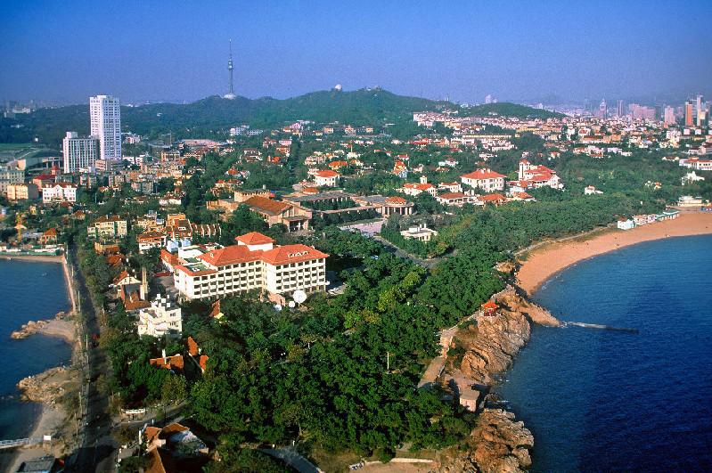上合青岛峰会举办地市南区美丽景色