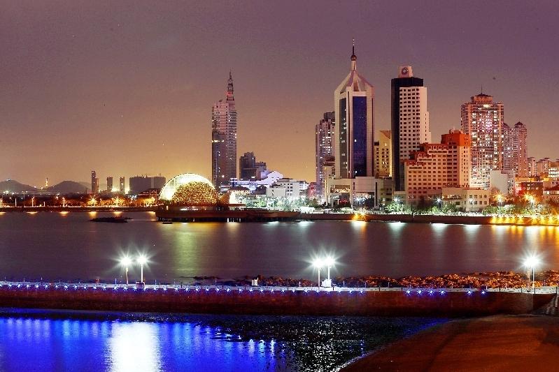 上合掠影:上合青岛峰会举办地市南区璀璨景色