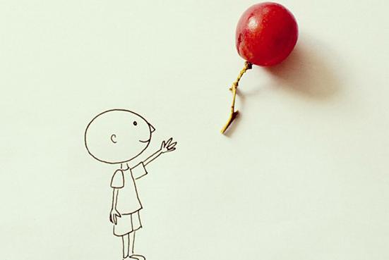 创意无限:实物与简笔画的完美结合