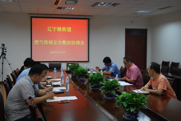 辽宁路街道办事处召开燃气领域安全整治协调会