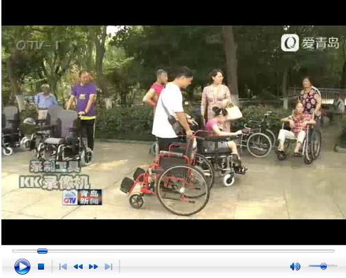 市北区为残疾人发放电动轮椅
