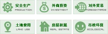 场景服,安全生产,外商投资,对外贸易,土地使用,房屋权属,市政环保