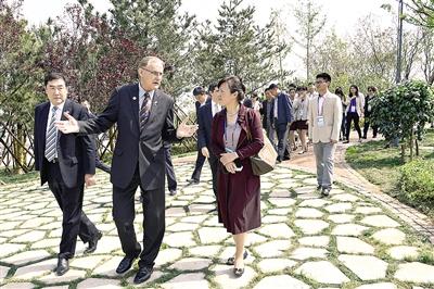 APEC人员参观友谊林:青岛不负众望