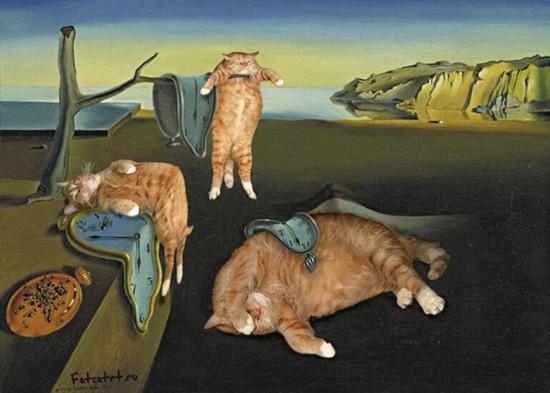 另类!宠物猫p进世界名画