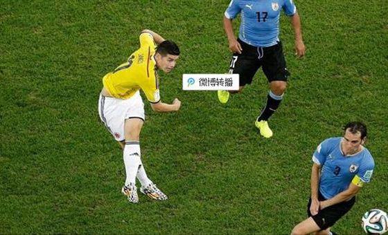 FIFA官方公布世界杯最佳球 J罗凌空斩当选