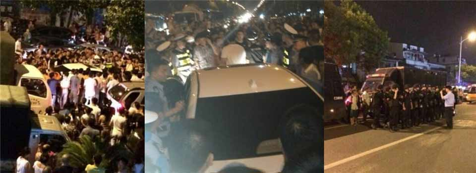 温州女司机撞人不愿下车 与路人对骂引数百人围观