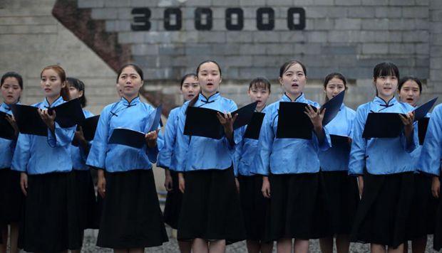"""南京大学生诗歌朗诵""""勿忘九一八"""""""