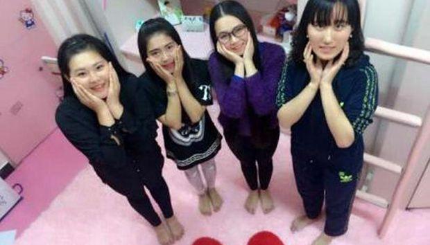 """大学生打造粉嫩梦幻寝室被赞""""萌萌哒"""""""