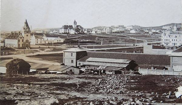 20世纪初青岛老照片:沂水路 火车站周边