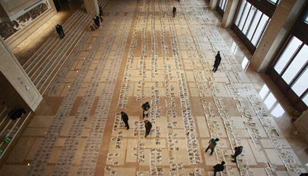 高考美术阅卷现场曝光 近3万画作铺满大厅