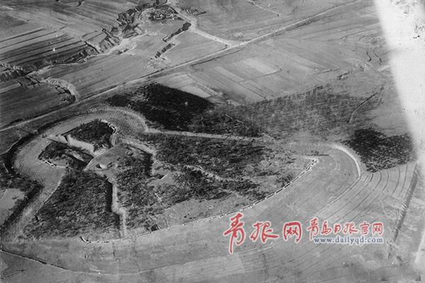 1928年日军飞机航拍下青岛:火车站